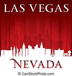 las, 內華達, 背景, 地平線, vegas, 城市, 紅色, 黑色半面畫像