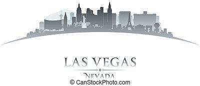 las, 內華達, 背景, 地平線, vegas, 城市, 黑色半面畫像, 白色