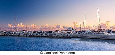 limassol, sunset., 老 口岸, cyprus.