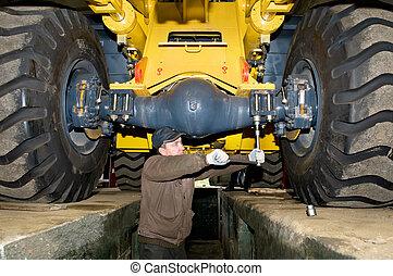 loader, 工作, 維護, 重