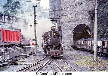 locomotive., narrow-gauge, 蒸汽
