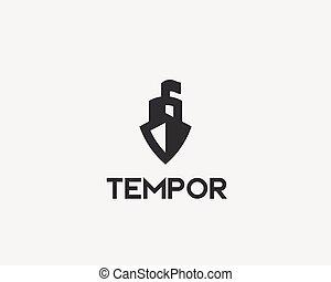 logotype., 創造性, 矢量, 標識語, 船, 小船, 圖象