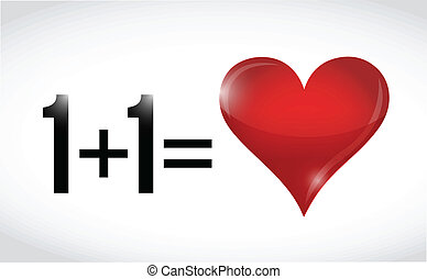 love., 加上, 相等, 一