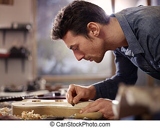 lutemaker, 車間, 工匠, 工作, 意大利語