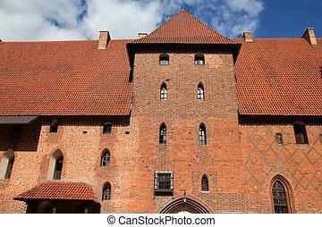 malbork, 城堡, 中世紀
