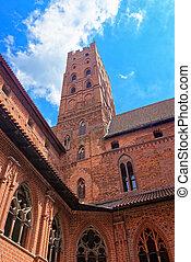 malbork, 城堡, 波蘭, 建築學