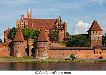 malbork, 城堡, 波蘭