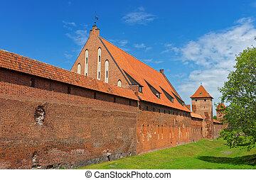 malbork, 城堡, 波蘭, pomerania