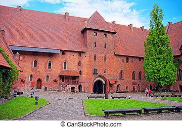 malbork, 波蘭, 城堡, 建築學, pomerania