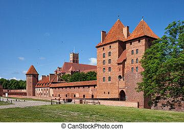 malbork, 波蘭, 城堡, teutonic, 預訂