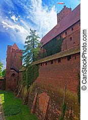 malbork, 牆壁, 城堡