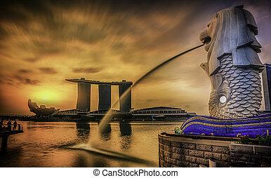 merlion, 新加坡, 界標