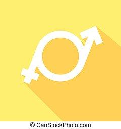 minimalistic, 矢量, transgender, 插圖, 符號