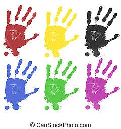 multicoloured, 列印, 手