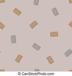 newsletter, 信封, seamless, background: