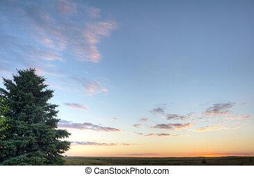 okoboji, 湖, 日出