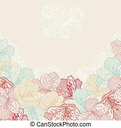 orchid., 花, 摘要, seamless, 高雅, 背景