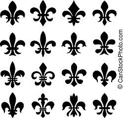 orleans, 符號, lis, fleur, de
