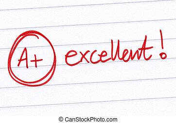 paper., a+, 好极了!, 考試, 寫