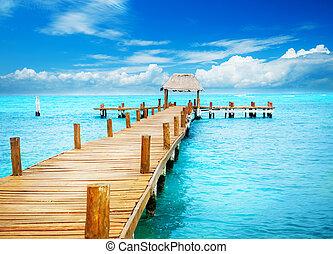 paradise., 回歸線, mujeres, 假期, 防波堤, 墨西哥, isla