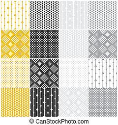 patterns:, 幾何學, 正方形, seamless, 點