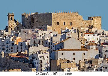 peniscola, 看法, 西班牙, 巴倫西亞, 城堡