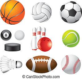 photo-realistic, 集合, 運動, 矢量, 球