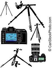 photographer's, 背景, 設備, 白色