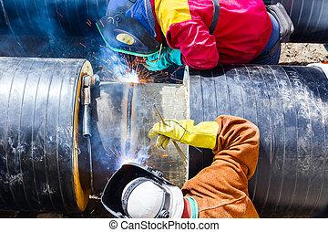 pipeline., welders, 工作