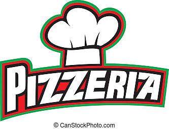 pizzeria, 設計, 標簽