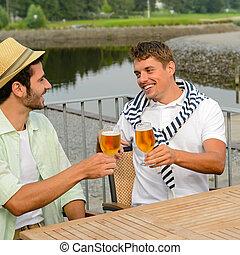 pub, 快樂, 啤酒, 喝酒, 男性, 朋友