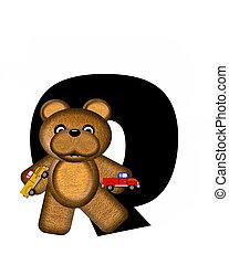 q, 字母表, teddy, 開車, 汽車