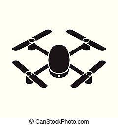 quadcopter, 雄峰, 矢量, 圖象
