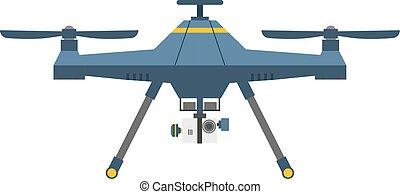 quadcopter, 雄峰, 被隔离, 矢量