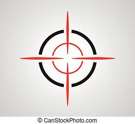 reticle, 圖像, 目標, viewfinder, crosshair