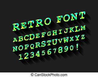 retro風格, alphabet.