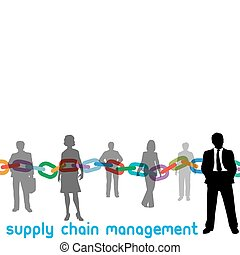 scm, 管理, 鏈子, 供應, 人們, 經理, 企業