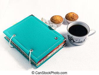 scrapbooking, 咖啡, 薄