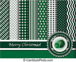 scrapbooking, 綠色, 圣誕節小玩意