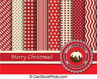 scrapbooking, 聖誕節, 紅色, 奶油