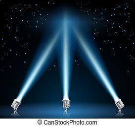 searchlights, 或者, 插圖, 聚光燈