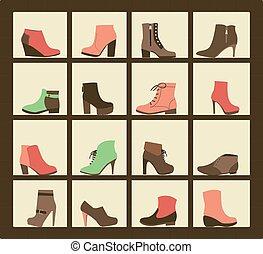 shop., 鞋子, 彙整, 架子