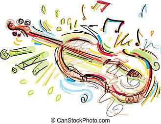 sketchy, 小提琴