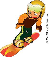 snowboard, 孩子
