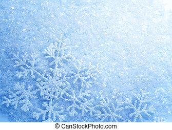 snowflakes., 背景。, 冬天, 雪, 聖誕節