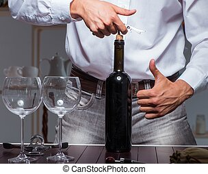 sommelier, 酒味覺, 餐館, 專業人員