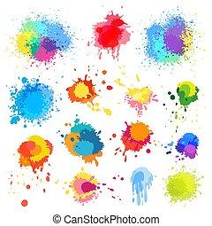 splat, 畫, 顏色, 摘要, 背景。, 矢量, 飛濺