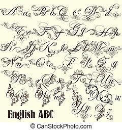 styl, 信件, 英語, abc, 葡萄酒