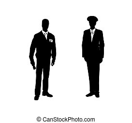 suits., 人, 插圖, 二, 矢量