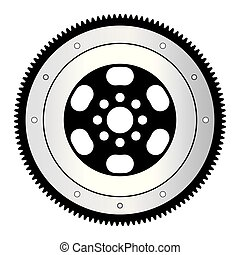 systems., 能量, 部分, 儲存, 插圖, 矢量, flywheel.